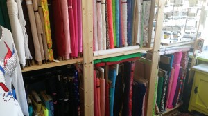 Another view of one row of fabric.